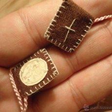 Antigüedades: PRECIOSO ANTIGUO ESCAPULARIO VIRGEN DEL CARMEN. Lote 52122818