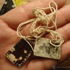 Antigüedades: PRECIOSO ANTIGUO ESCAPULARIO VIRGEN DEL CARMEN. Lote 52123001