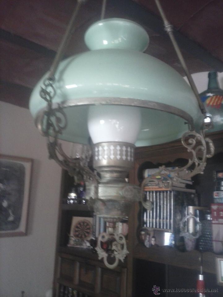 LÁMPARA TECHO ANTIGUA . (Antigüedades - Iluminación - Lámparas Antiguas)