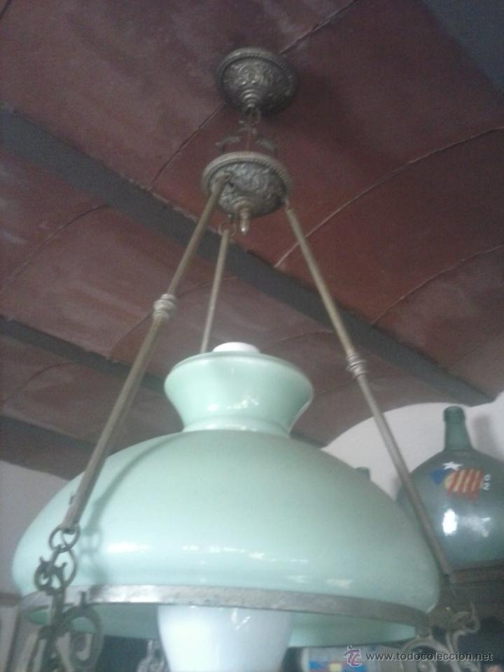 Antigüedades: Lámpara techo antigua . - Foto 2 - 52129035