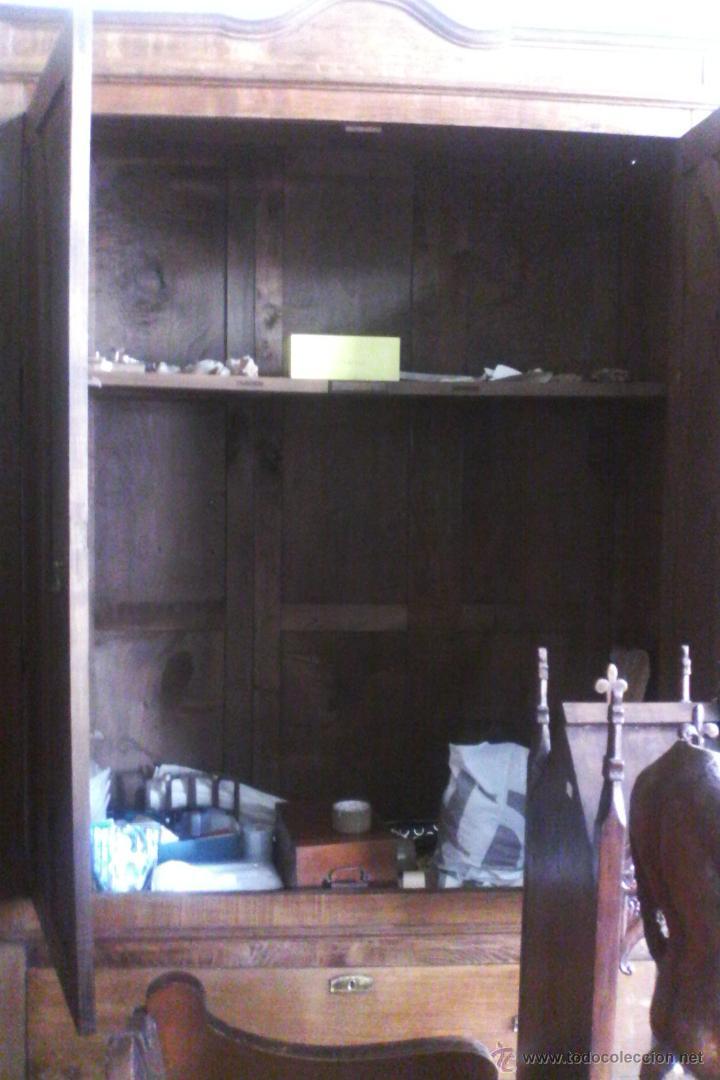 Antigüedades: IMPRESIONANTE ARMARIO DE CASTAÑO ANTIGUO - Foto 21 - 26407165