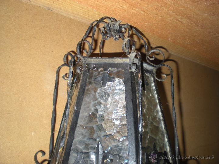 Antigüedades: Farol HECHO A MANO EN FORJA sin instalación - Foto 4 - 52134741