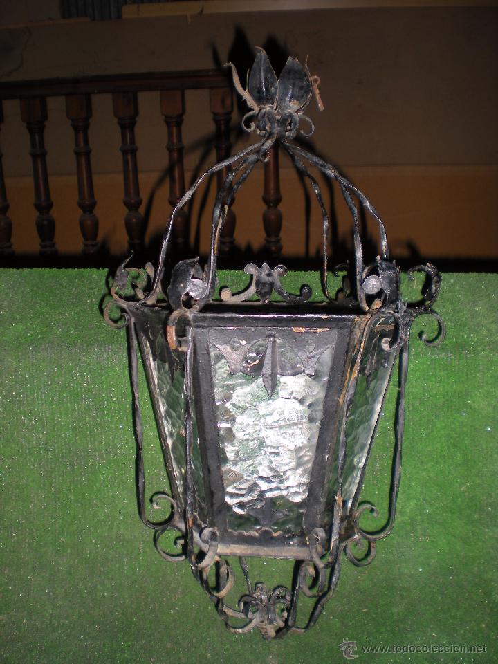 Antigüedades: Farol HECHO A MANO EN FORJA sin instalación - Foto 6 - 52134741