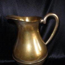 Antigüedades: ANTIGUA GRAN JARRA PARA OFICIO RELIGIOSO EN BRONCE PLATEADO IGLESIA CAPILLA 21 CM. Lote 177282232