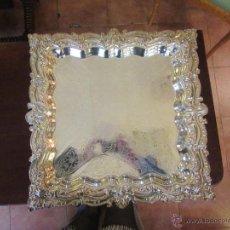 Antigüedades: DOS BANDEJAS CUADRADAS PLATEADAS. Lote 52138216