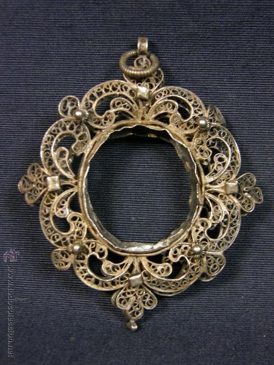 marco colgante plata filigrana s xvii xviii rel - Comprar Plata de ...