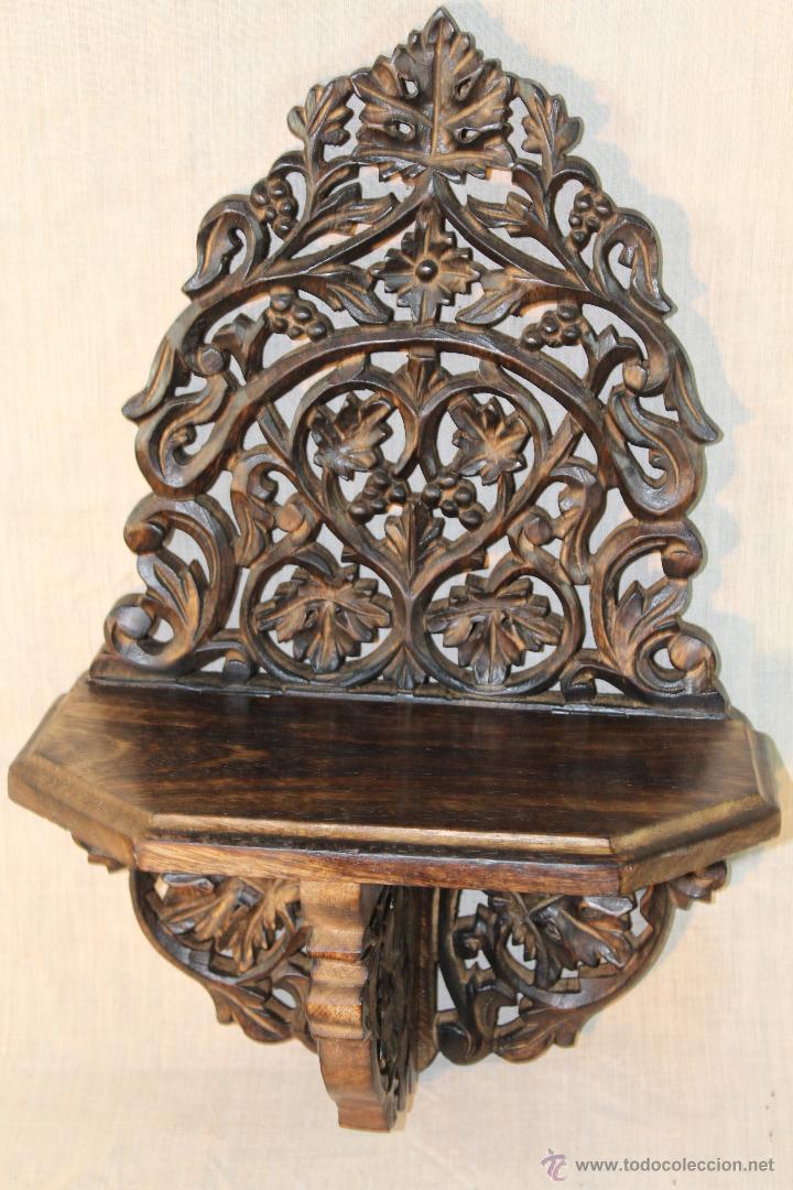 MENSULA EN MADERA TALLADA (Antigüedades - Muebles Antiguos - Ménsulas Antiguas)