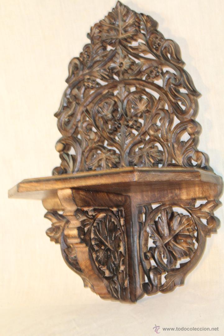 Antigüedades: MENSULA EN MADERA TALLADA - Foto 2 - 84147607