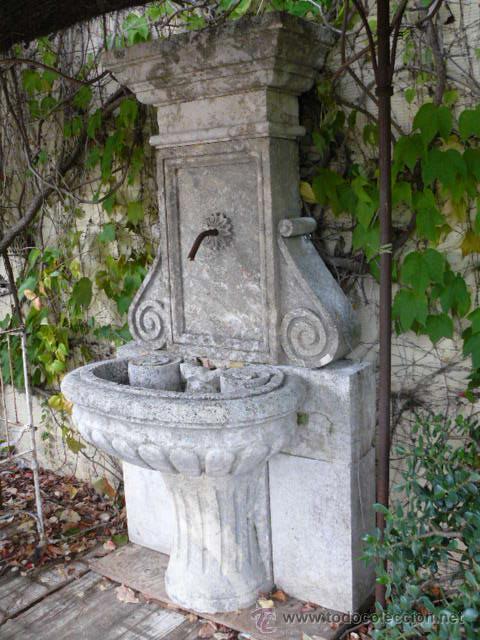 Fuente de piedra caliza comprar antig edades varias en - Fuentes de piedra antiguas ...