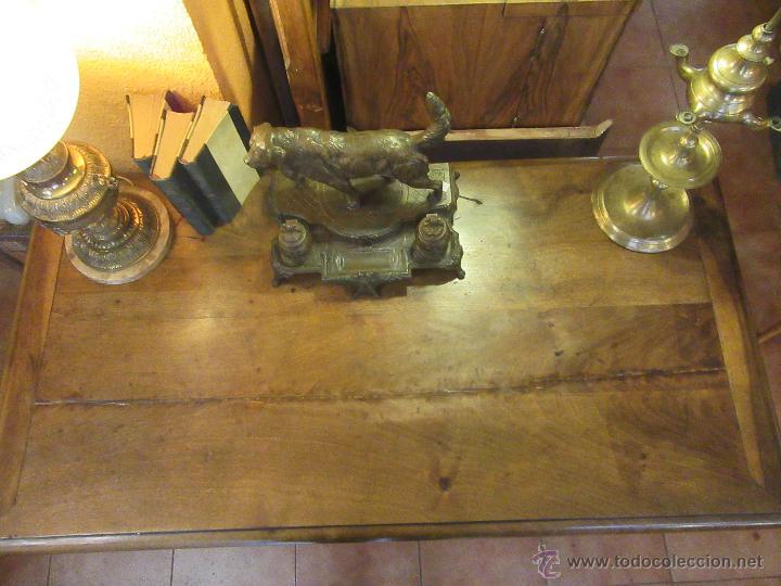 Antigüedades: MESA DE NOGAL ESPAÑOL - Foto 2 - 52152528