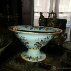 Antigüedades: RARISIMA CERAMICA FUENTE FRUTERO 1862 PICKMAN Y Cª MEDALLA EXPOSICIONES LONDRES CHINA OPACA SEVILLA. Lote 52153778
