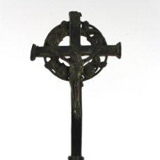 Antigüedades: ANTIGUO CRUCIFIJO EN PLOMO. ALTURA: 20,5 CM.. Lote 52154490