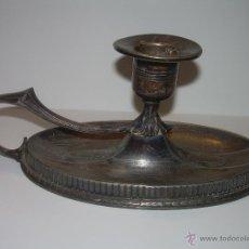 Antigüedades: ANTIGUO PORTAVELAS O PALMATORIA DE ESTAÑO......ART DECO.. Lote 52156851