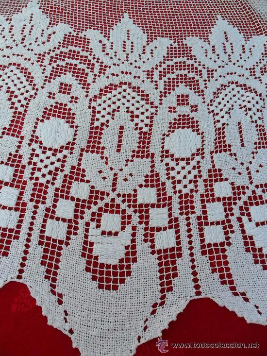 Antigüedades: Antigua cortina de malla - modernista - Foto 2 - 52162166