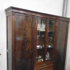 Antigüedades: ANTIGUA VITRINA - ISABELINA - COMEDOR -DESPACHO - MADERA DE CAOBA - FINALES SIGLO XIX. Lote 52168538