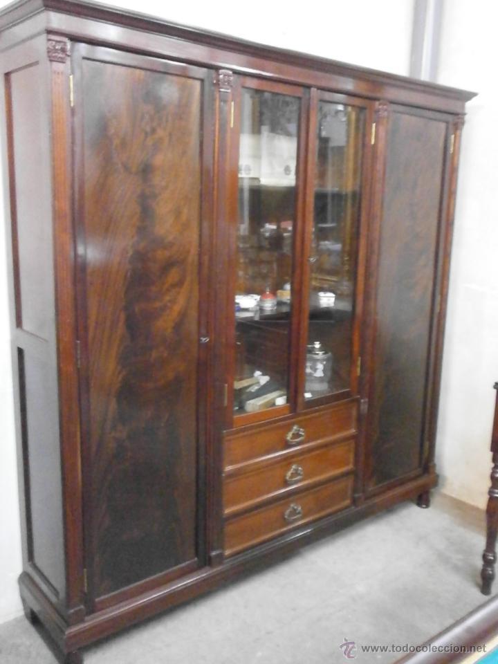 Antigüedades: Antigua vitrina - Isabelina - comedor -despacho - madera de caoba - finales Siglo XIX - Foto 5 - 52168538