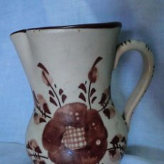 Antigüedades: JARRA DE CERÁMICA, PARA AGUA O VINO , DECORADA CON FLORES. Lote 52278150