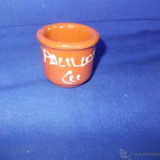 Antigüedades: PALILLERO DE BARRO. Lote 52285089