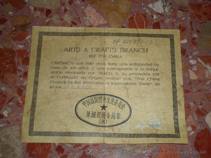 Antigüedades: JARRON CHINO EN AZULES DEL SIGLO XIX CON CERTIFICADO - Foto 4 - 52286385