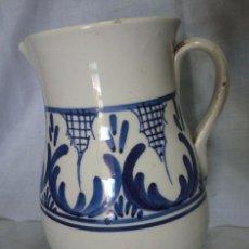 Antigüedades: JARRA DE CERÁMICA DECORADA EN AZULES . Lote 52295080