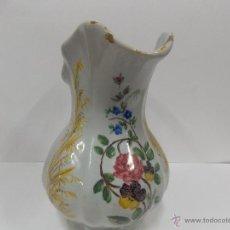 Antigüedades: JARRA FLOREADA PINTADA. Lote 52162773
