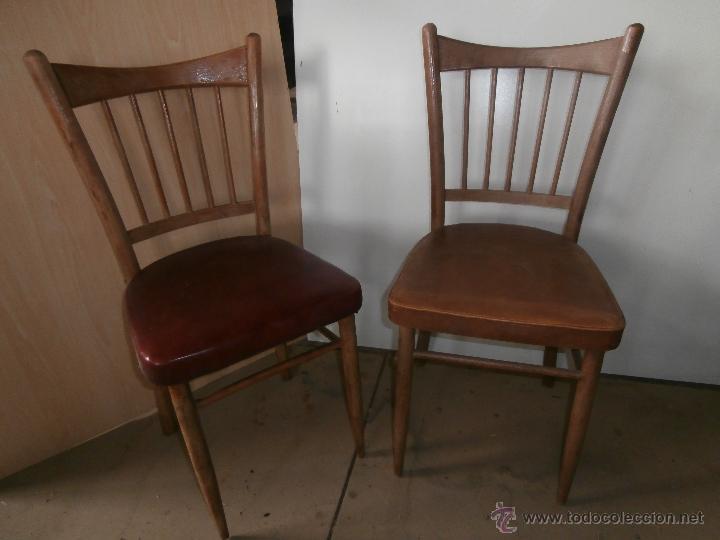 2 sillas antiguas de madera tapizadas vintage comprar for Sillas antiguas tapizadas modernas