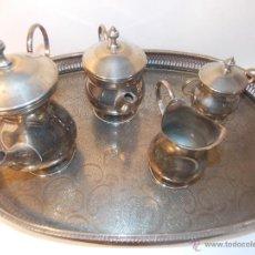 Antigüedades: JUEGO CAFE ALPACA. Lote 52306429