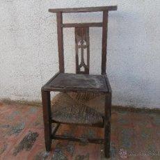 Antigüedades: 1 ANTIGUA SILLA DE MADERA PARA REZAR, CON ANEA, RECLINATORIO. Lote 52317231