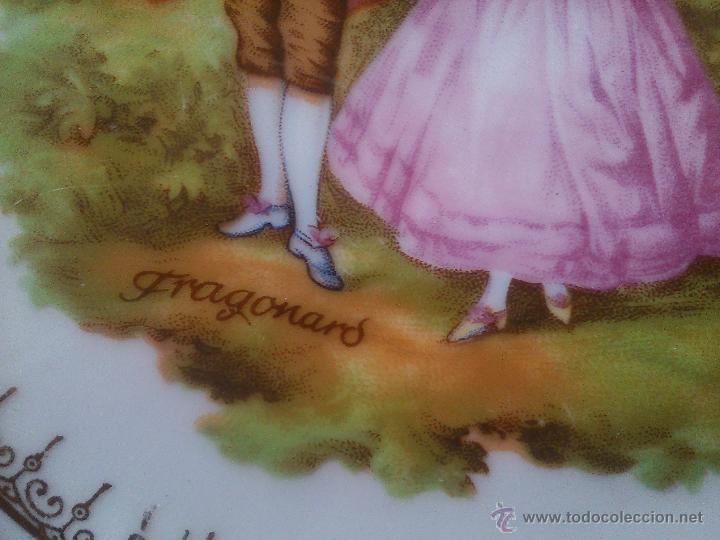 Antigüedades: *PLATO DE PORCELANA. FRAGONARD . (Rf:218/c) - Foto 3 - 52325328