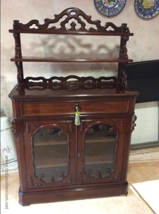 MUEBLE APARADOR DE CAOBA. S. XIX. (Antigüedades - Muebles Antiguos - Aparadores Antiguos)