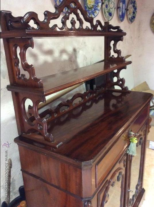 Antigüedades: MUEBLE APARADOR DE CAOBA. S. XIX. - Foto 2 - 52327475