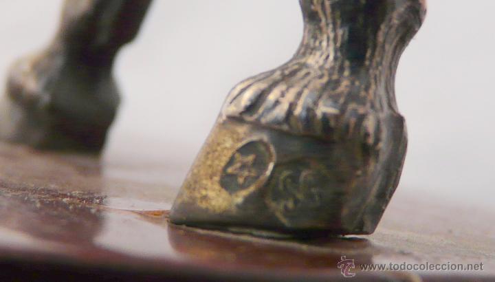 Antigüedades: PELEA DE CABALLOS EN PLATA DE LEY - Foto 12 - 52333338