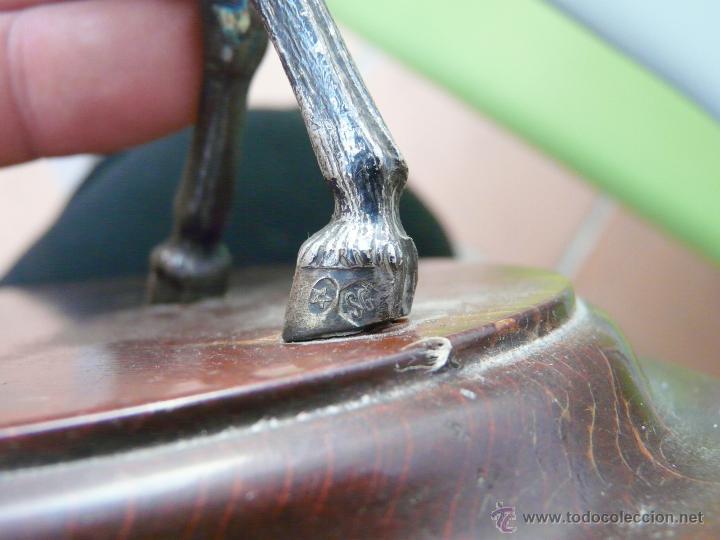 Antigüedades: PELEA DE CABALLOS EN PLATA DE LEY - Foto 23 - 52333338