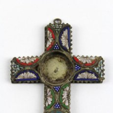 Antigüedades - CX-16. CRUZ EN MICROMOSAICO ROMA SIGLO XIX - 52342308