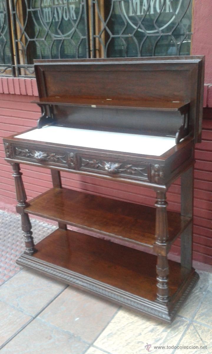 Aparador Vajillero Credencia Siglo Xix Comprar Aparadores  # Muebles Vajilleros Antiguos