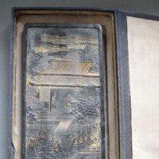 Antigüedades: RARISIMA MATRIZ ORIANTAL PARA PINTAR CON TINTA SOBRE SEDA O PAPEL, DE PRINCIPIOS DE SIGLO. Lote 52345546