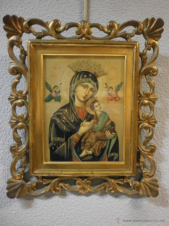 Bonito Icono Virgen Perpetuo Bizantina Marc Comprar