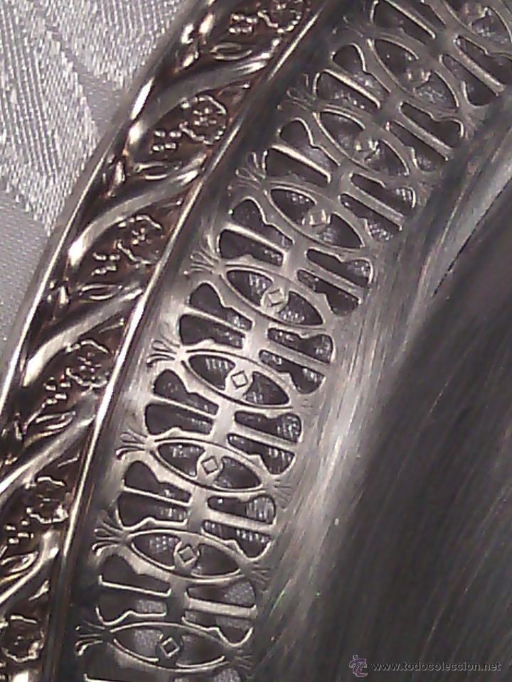 Antigüedades: CENTRO CALADO Y LEGUMBRERA. WM. ROGERS & SON. USA. 2ª MITAD S. XIX. CIRCA 1865. - Foto 5 - 52348321