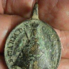 Antigüedades: RARA MEDALLA VIRGEN DE GUADALUPE Y SAN JERONIMO - SIGLO XVII - CACERES - MIRA MAS EN MI TIENDA. Lote 52355738