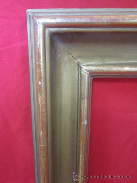 Antigüedades: Marco en madera estucado y dorado. - Foto 2 - 52360494