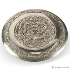 Antigüedades: POLVERA PLATA CHINA. FIN DEL XIX . Lote 52366243