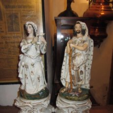 Antigüedades: PRECIOSA PAREJA DE FIGURAS DE PORCELANA JACOB PETIT - VIEJO PARIS. Lote 52369919