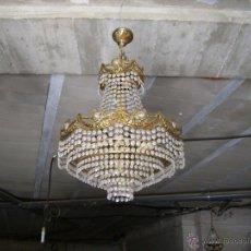 Antigüedades: **PRECIOSA LAMPARA DE BRONCE Y CRISTAL** SOLO RECOGIDA!!. Lote 52373567