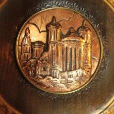 Antigüedades: ANTIGUO PLATO DECORATIVO, IMAGEN DE LYON, 22CM, CON COLGADOR. Lote 52398349
