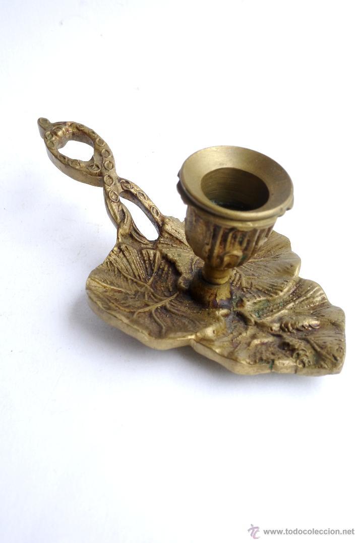 Antigüedades: PORTAVELAS DE METAL - Foto 3 - 52403676