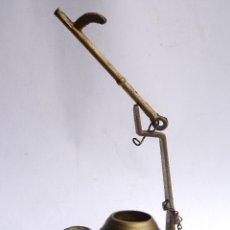 Antigüedades: LAMPARA DE ACEITE DE METAL. Lote 52403978
