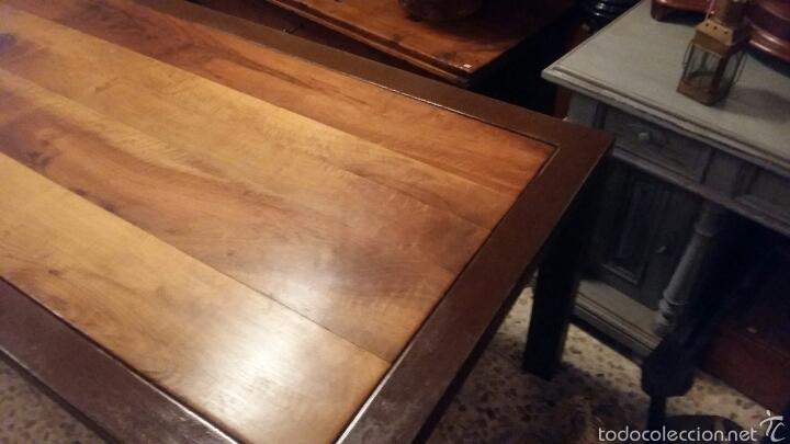Antigüedades: Mesa de nogal y marco de hierro - Foto 3 - 52408504