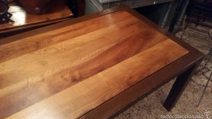 Antigüedades: Mesa de nogal y marco de hierro - Foto 4 - 52408504