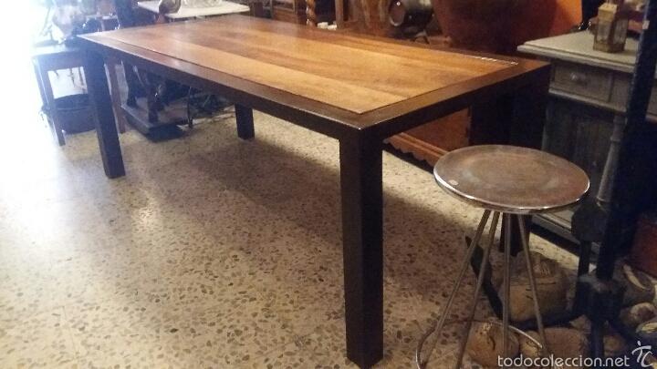 Antigüedades: Mesa de nogal y marco de hierro - Foto 6 - 52408504