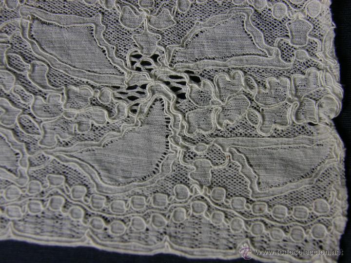 Antigüedades: cinta circular vainica batista ganchillo puño o similar franja sXIX 27,5x9cms - Foto 2 - 52408601